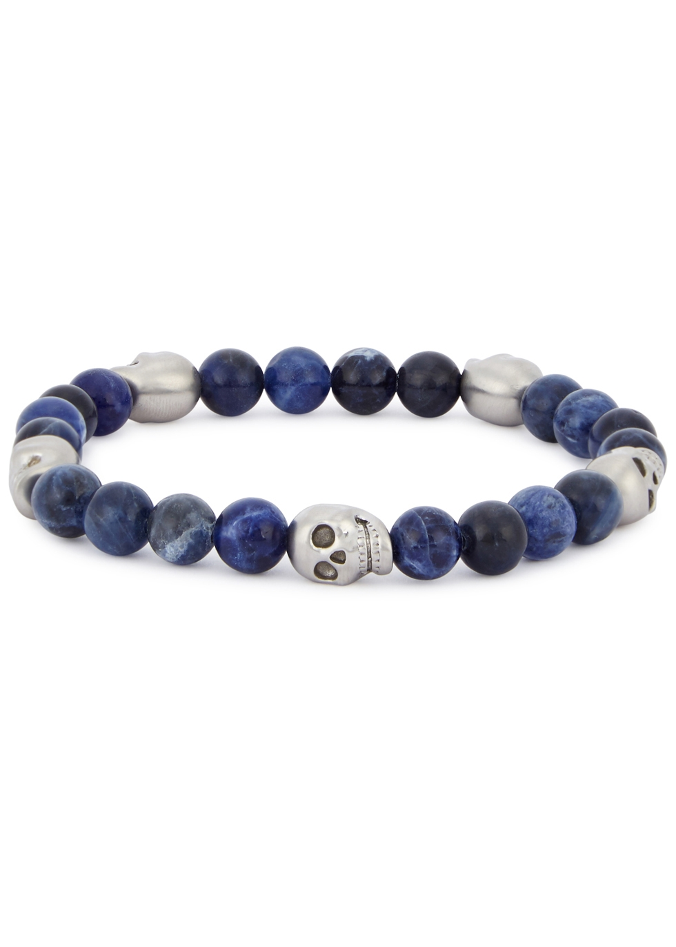 SIMON CARTER SODALITE BEADED SKULL BRACELET