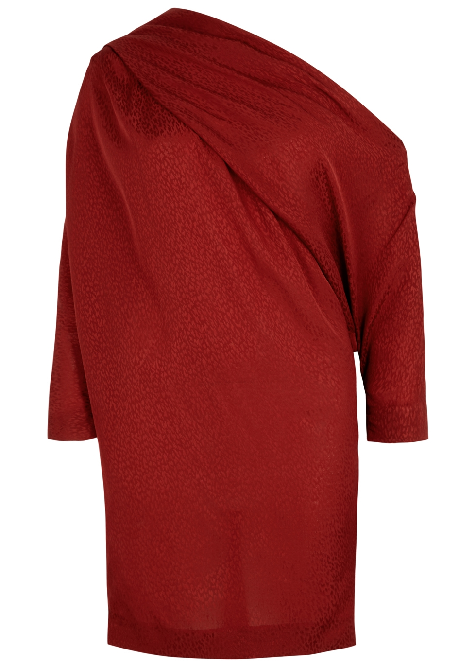 CARMEN MARCH RED LEOPARD-JACQUARD MINI DRESS