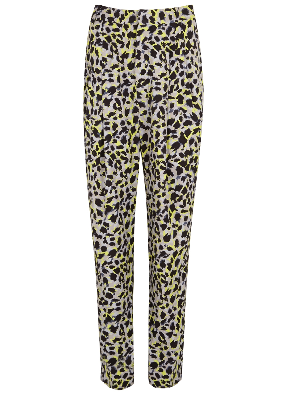 CARMEN MARCH LEOPARD-PRINT TAPERED TROUSERS