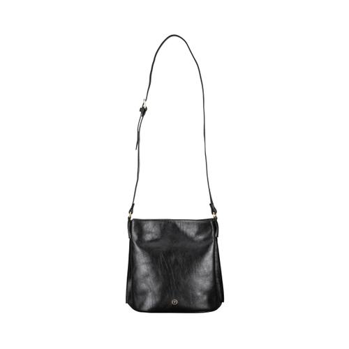 b5e8cd1d04 Maxwell Scott Bags Stylish Black Italian Leather Shoulder Bag For Women