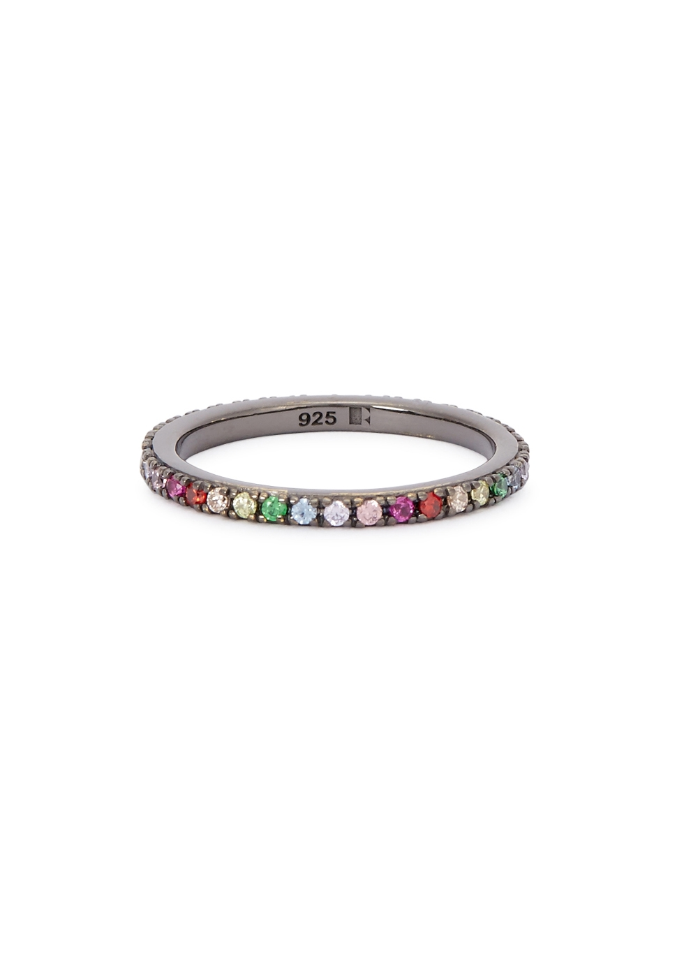 ROSIE FORTESCUE RHODIUM-PLATED STERLING SILVER RING