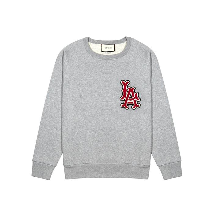Gucci LA Angels Appliquéd Cotton Sweatshirt