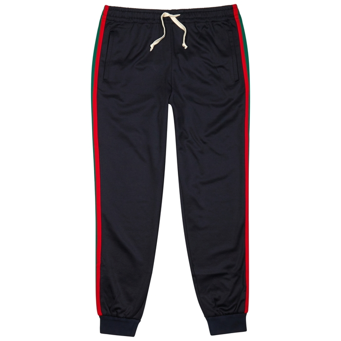 Gucci Signature-striped Jersey Jogging Trousers
