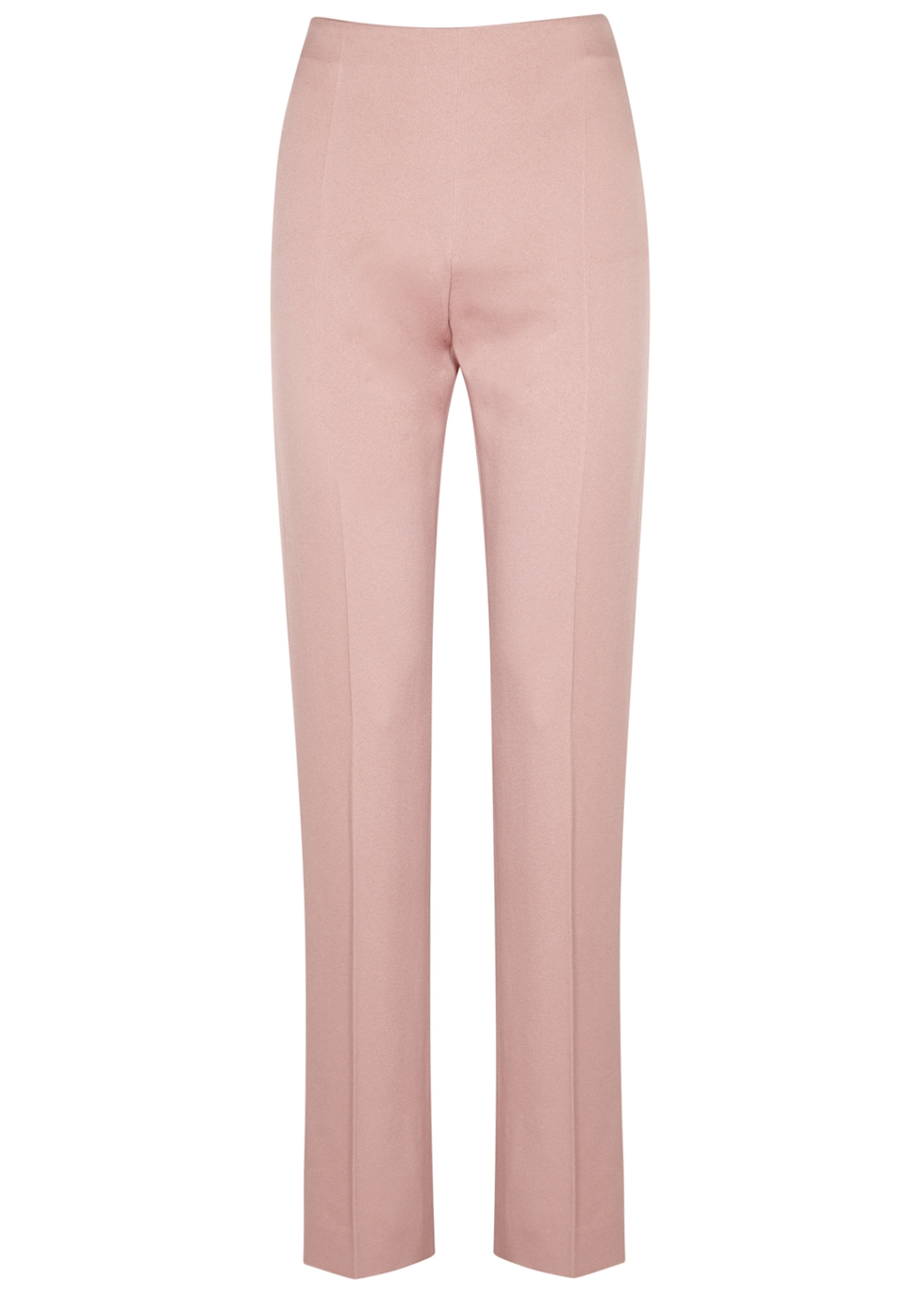 PALE PINK STRAIGHT-LEG TROUSERS