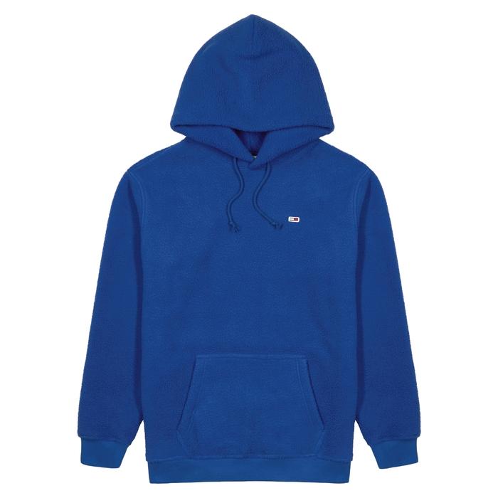 Tommy Jeans Blue Hooded Fleece Sweatshirt thumbnail