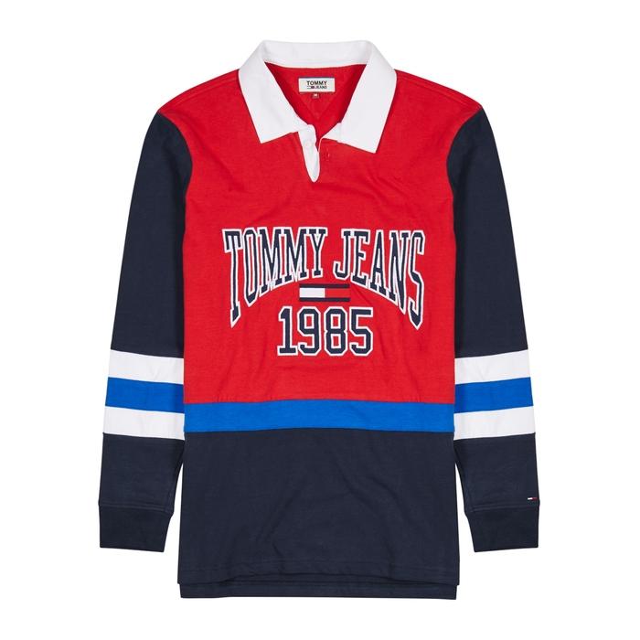 Tommy Jeans Logo-appliquéd Cotton Rugby Shirt thumbnail