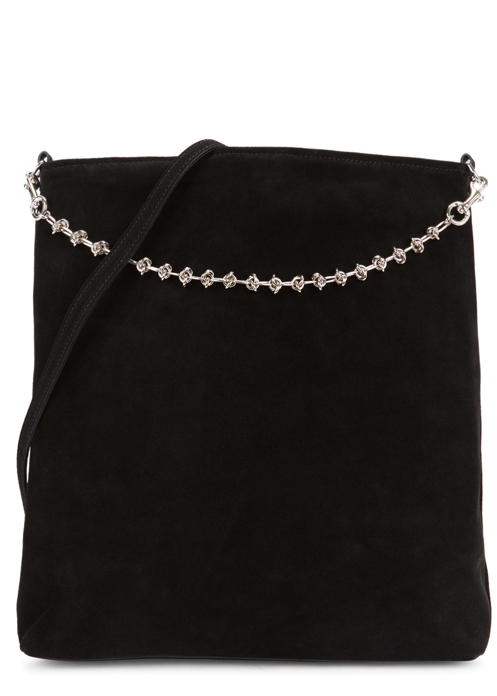 LITTLE LIFFNER Liqour Black Suede Shoulder Bag
