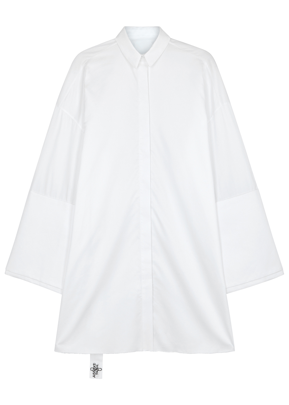 ABSENCE OF PAPER PAGE TWO BIGGIE FLARED-SLEEVE COTTON SHIRT DRESS