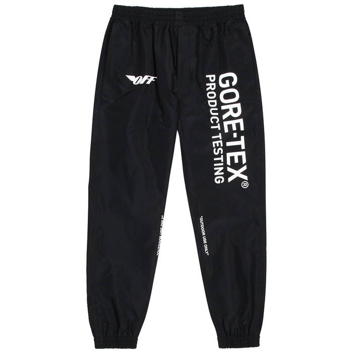 Off-White Black Printed Gortex Trousers