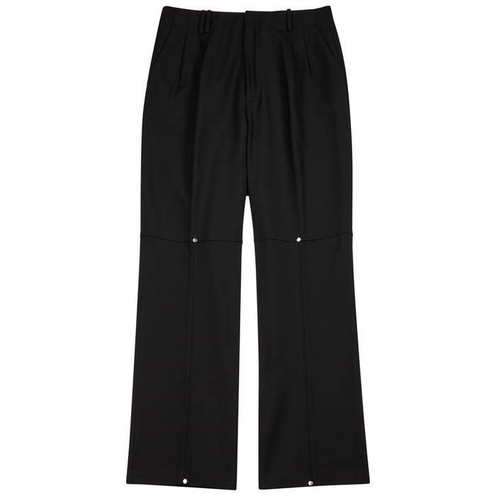 Off-White Black Wide-leg Wool Trousers