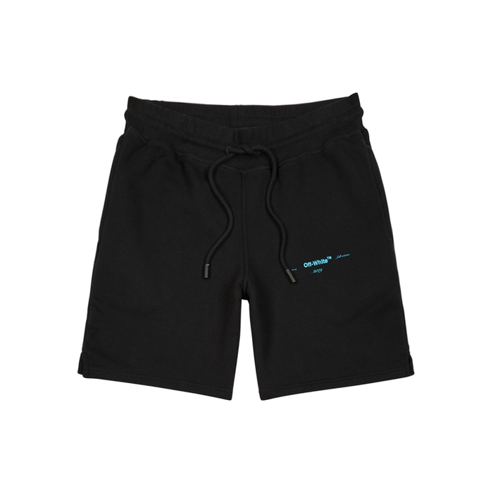 Off-White Black Cotton Shorts