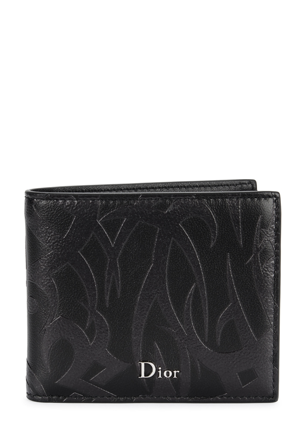 DIOR HOMME TRIBAL EMBOSSED LEATHER WALLET