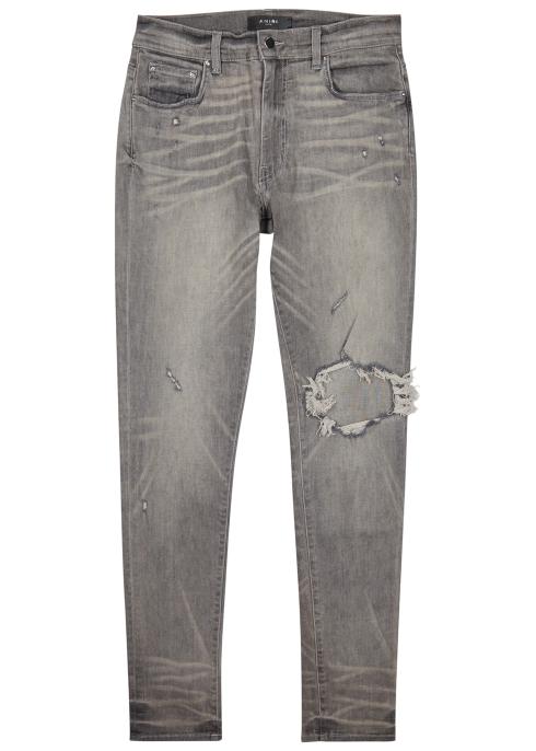 d1b71df1270 Amiri Broken distressed skinny jeans - Harvey Nichols
