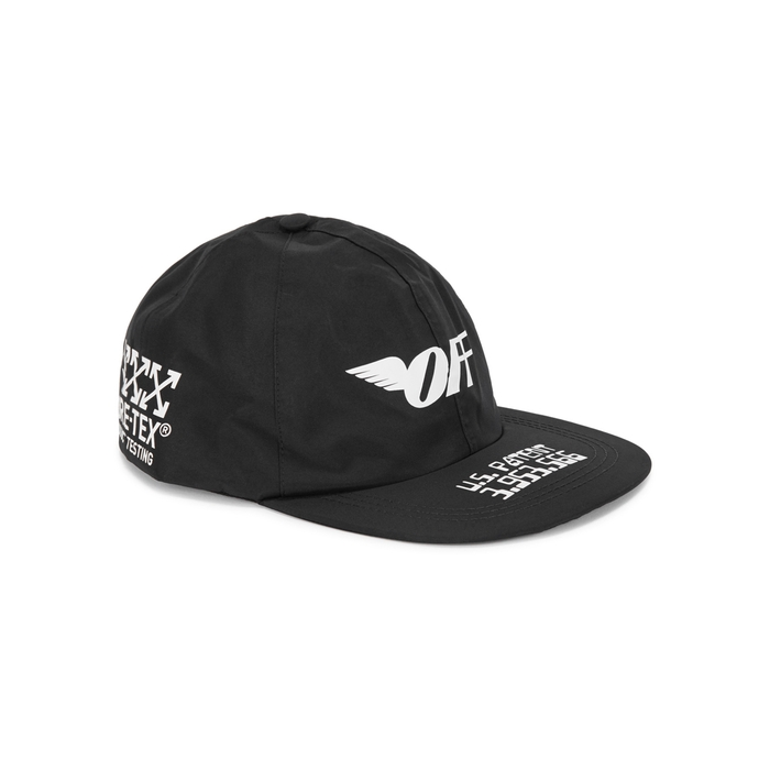 Off-White Black Printed Gore-Tex Cap