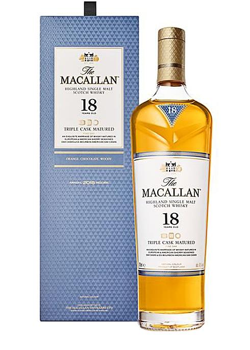 18 Year Old Triple Cask Matured Single Malt Scotch Whisky - Macallan