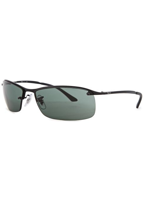 416ff77ab6f Ray-Ban Matte black rectangle-frame sunglasses - Harvey Nichols