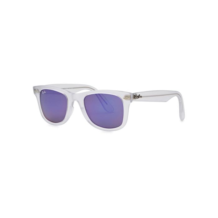fcc036b8910 Ray Ban Wayfarer Ease Transparent Sunglasses In Purple