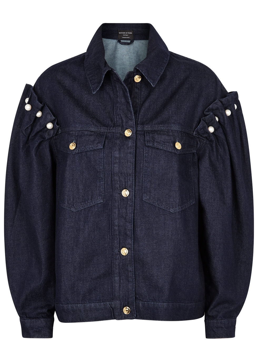 MOTHER OF PEARL INDIGO OVERSIZED DENIM JACKET