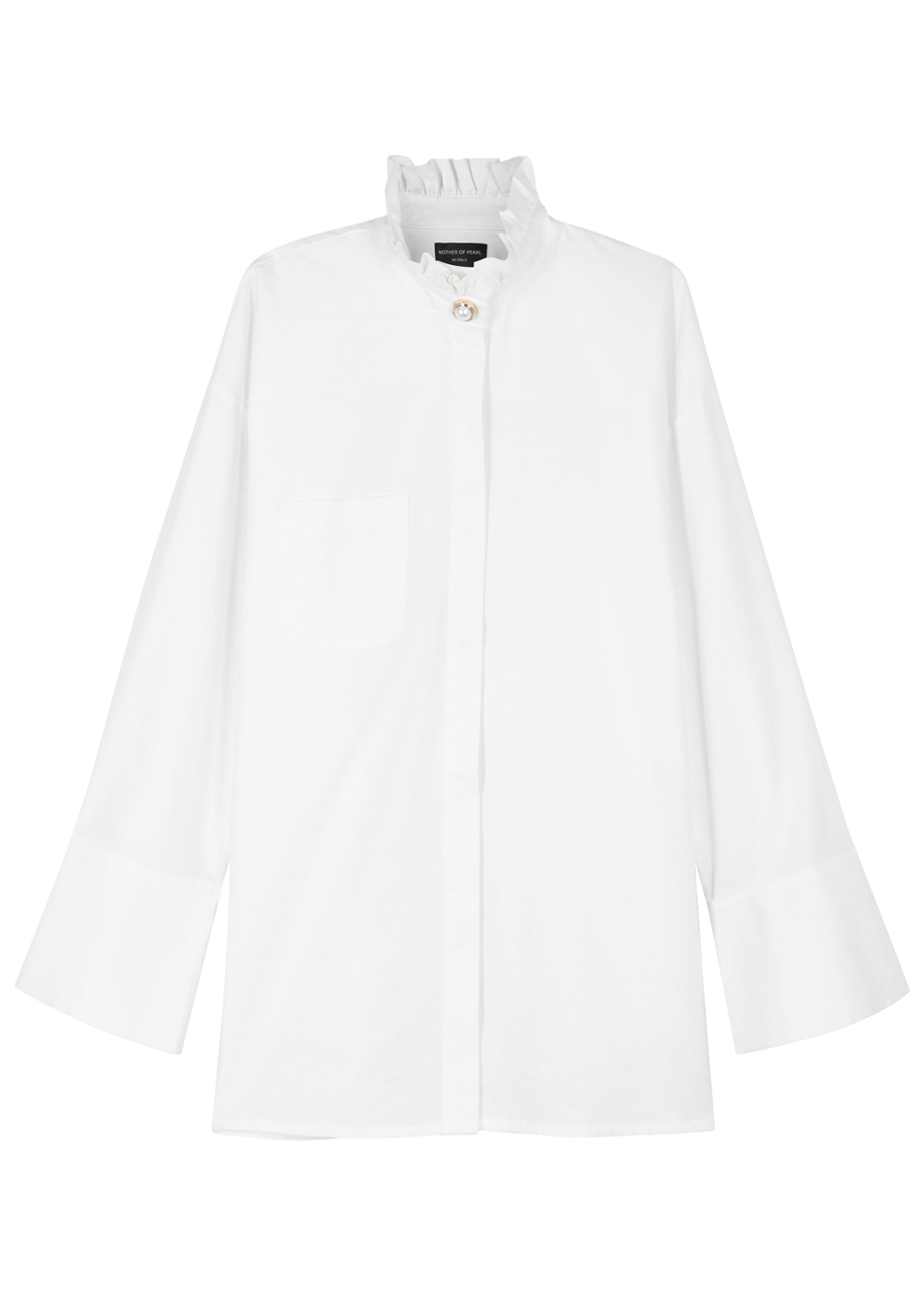 MOTHER OF PEARL CINDY OFF-WHITE ORGANIC COTTON SHIRT