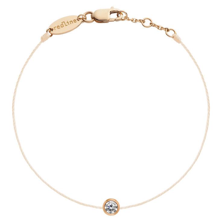 REDLINE 18Ct Rose Gold Pure Bracelet Peach