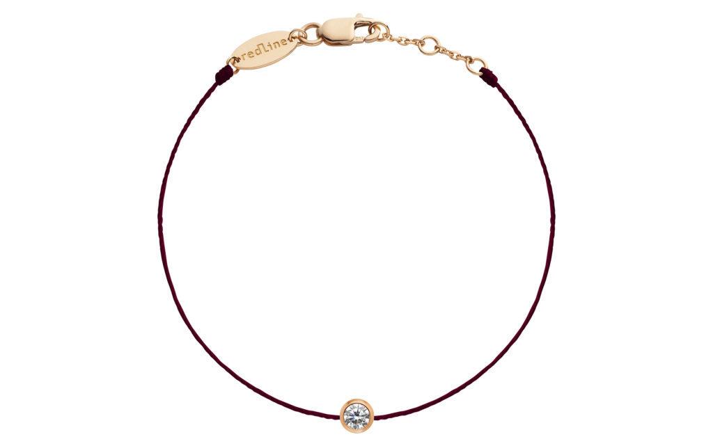 REDLINE 18CT ROSE GOLD AND DIAMOND WINE THREAD PURE BRACELET