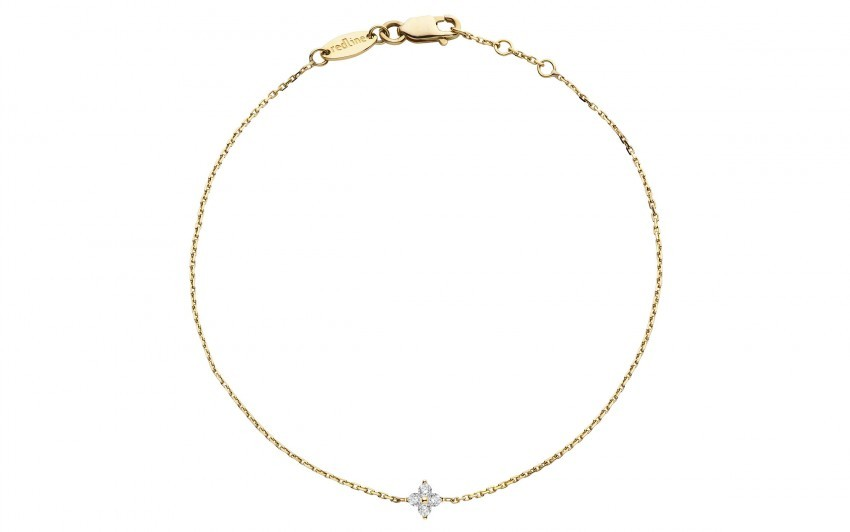REDLINE 18Ct Yellow Gold And Diamond Shiny Bracelet
