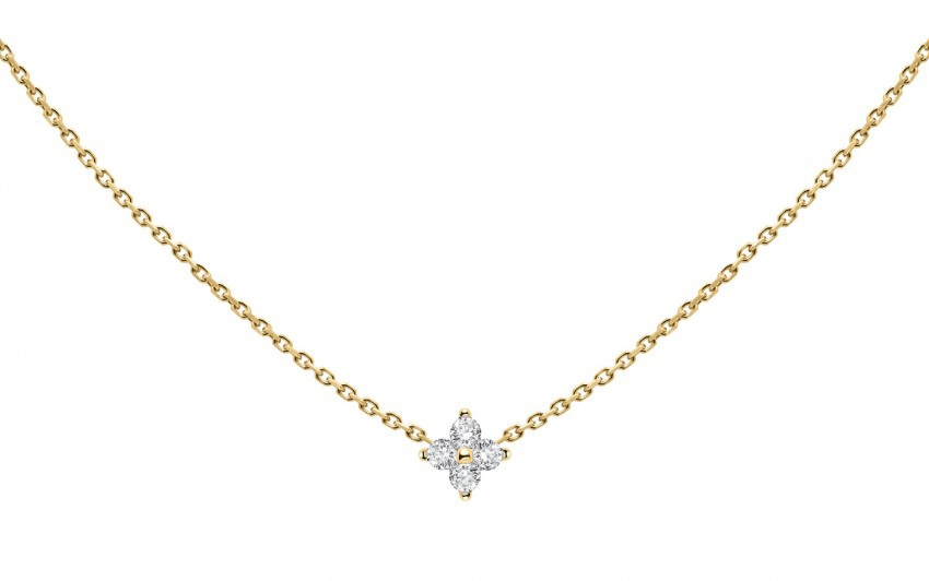REDLINE 18CT YELLOW GOLD AND DIAMOND SHINY NECKLACE