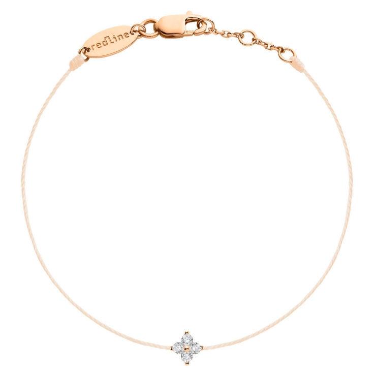 REDLINE 18Ct Rose Gold Shiny Bracelet Peach