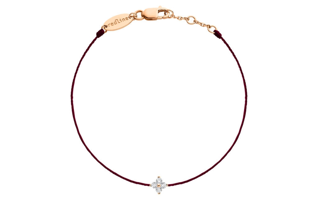 REDLINE 18Ct Rose Gold Queen Pearl Fuschia Bracelet