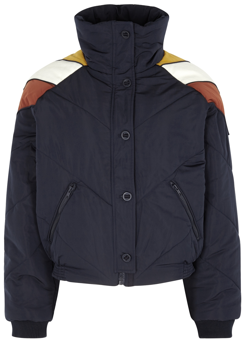 Heidi Navy Quilted Shell Jacket