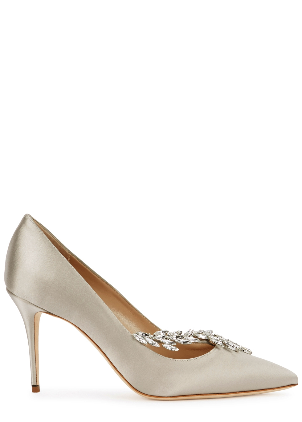20fb279a2957 shopping manolo blahnik. nadira champagne satin pumps 5f481 bce6c