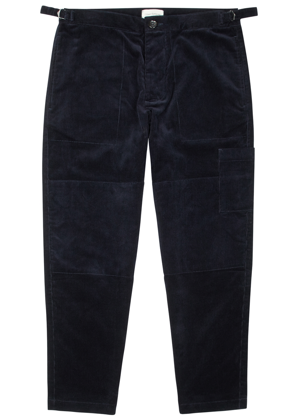 OLIVER SPENCER JUDO NAVY CORDUROY TROUSERS