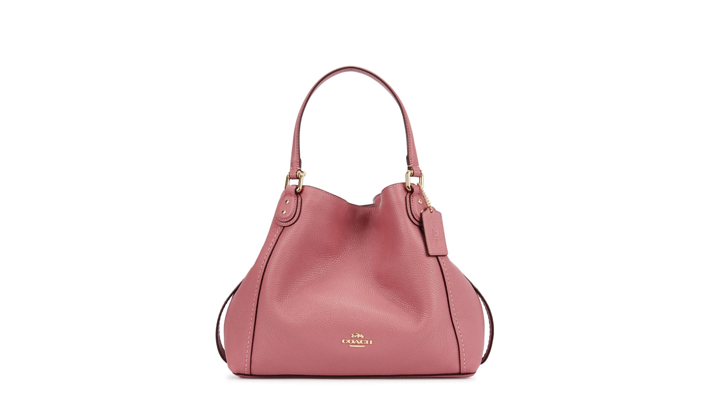 898cc52eed7 Coach Edie 28 pink leather tote - Harvey Nichols