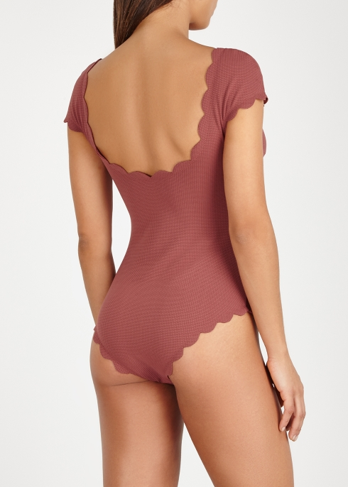 ce26a81a2054f Marysia Mexico rust scalloped swimsuit - Harvey Nichols