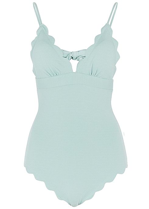 0cab973b0b Marysia Santa Clara mint scalloped swimsuit - Harvey Nichols