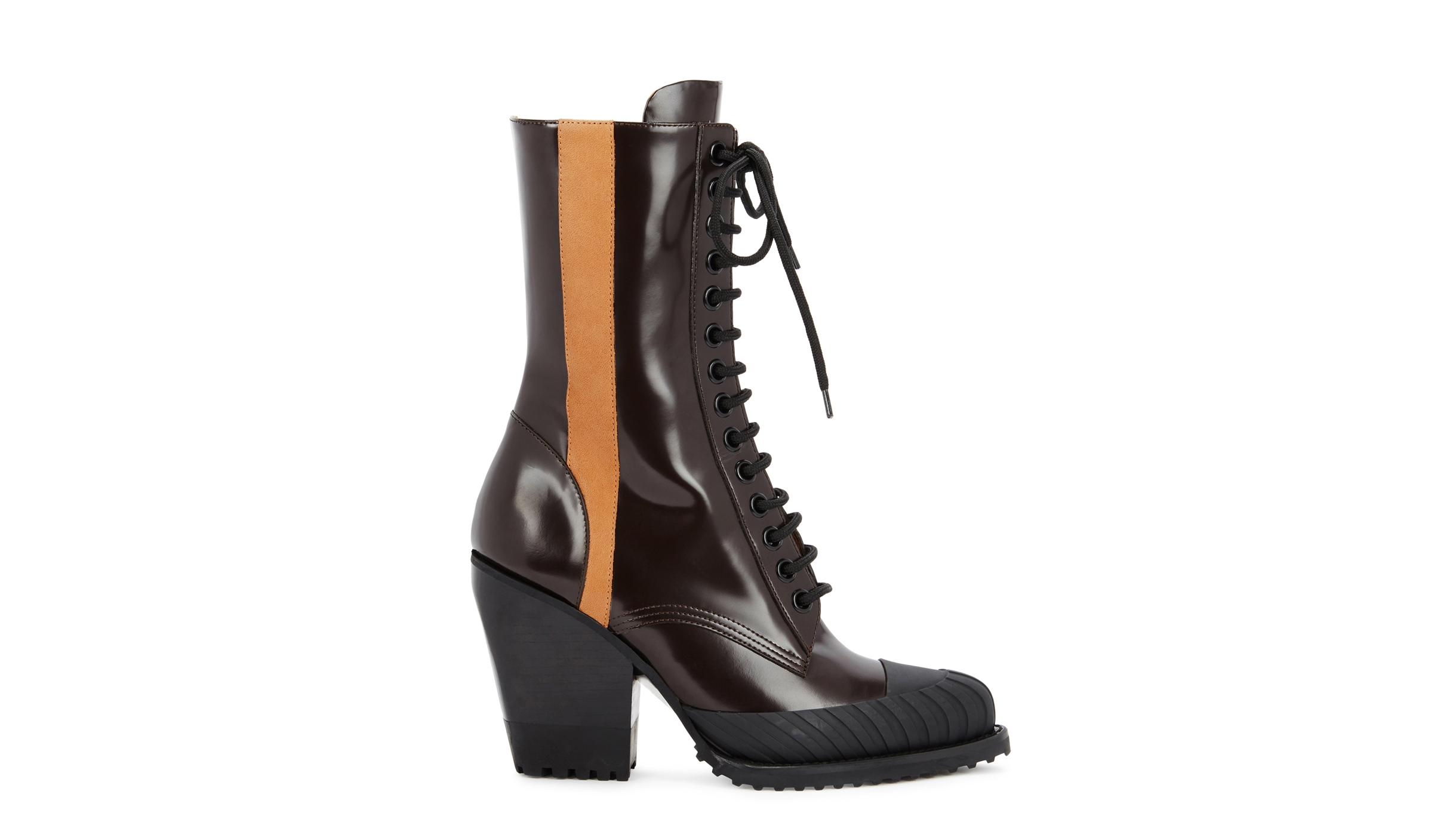 897f73c6737 Chloé Rylee burgundy glossed leather boots - Harvey Nichols