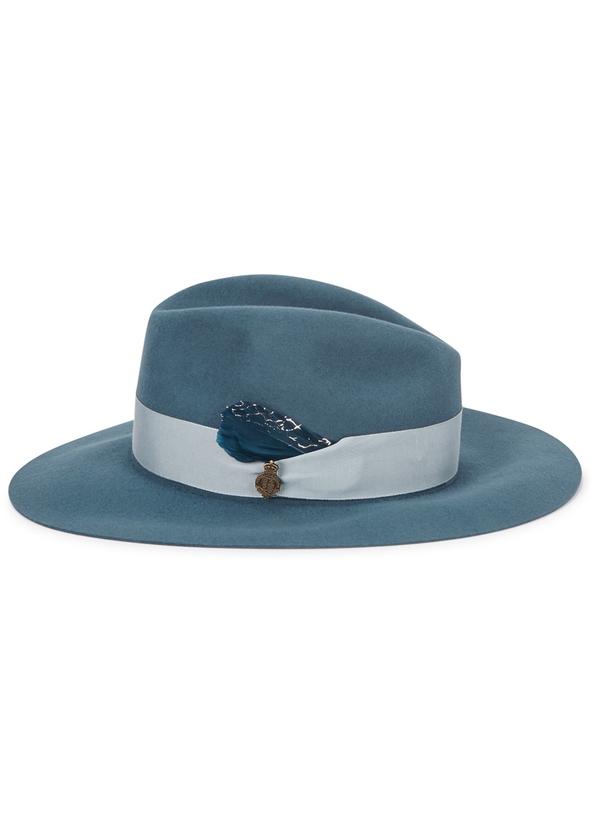 Chester blue wool felt fedora def8838d5f72
