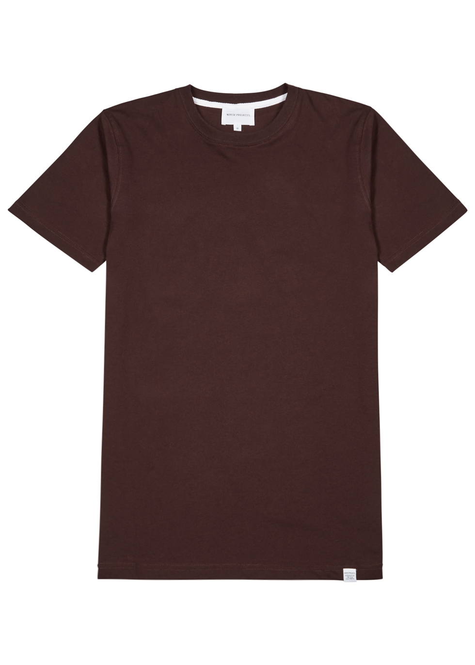 NORSE PROJECTS NEILS BURGUNDY COTTON T-SHIRT