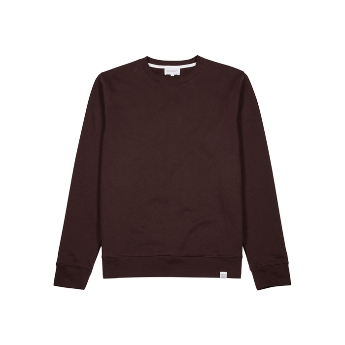 Norse Projects Vagn Bordeaux Cotton Sweatshirt