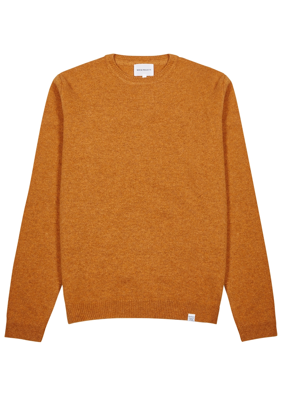 NORSE PROJECTS SIGFRED BURNT ORANGE WOOL JUMPER