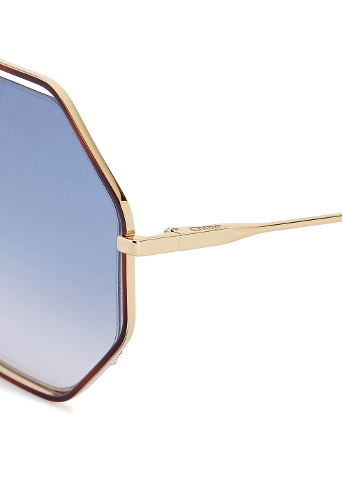 5ab5984a87c Chloé Poppy octagon-frame sunglasses - Harvey Nichols