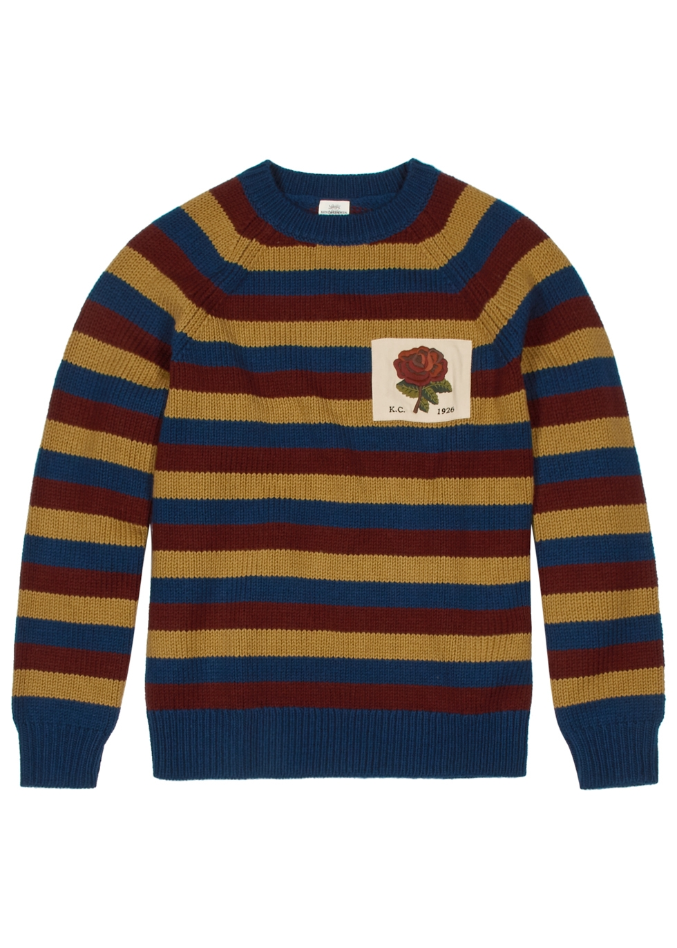 KENT & CURWEN CARADON STRIPED WOOL JUMPER