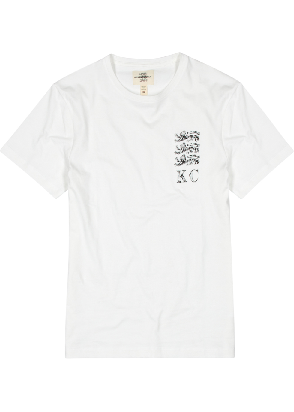 KENT & CURWEN WHITE LOGO-PRINT COTTON T-SHIRT