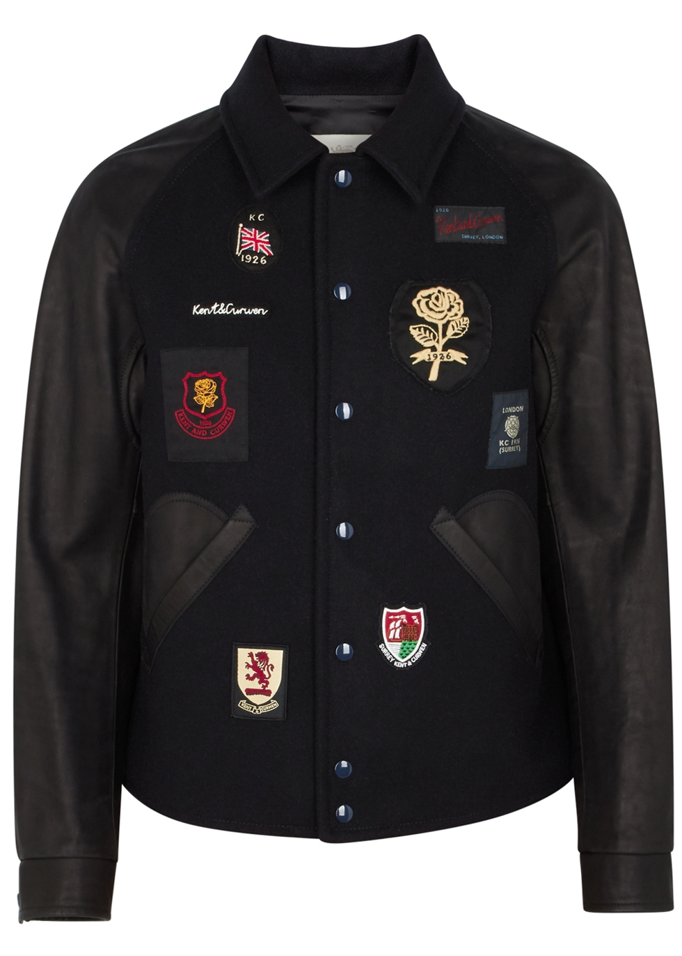 KENT & CURWEN WILLIS BADGE-APPLIQUED WOOL JACKET