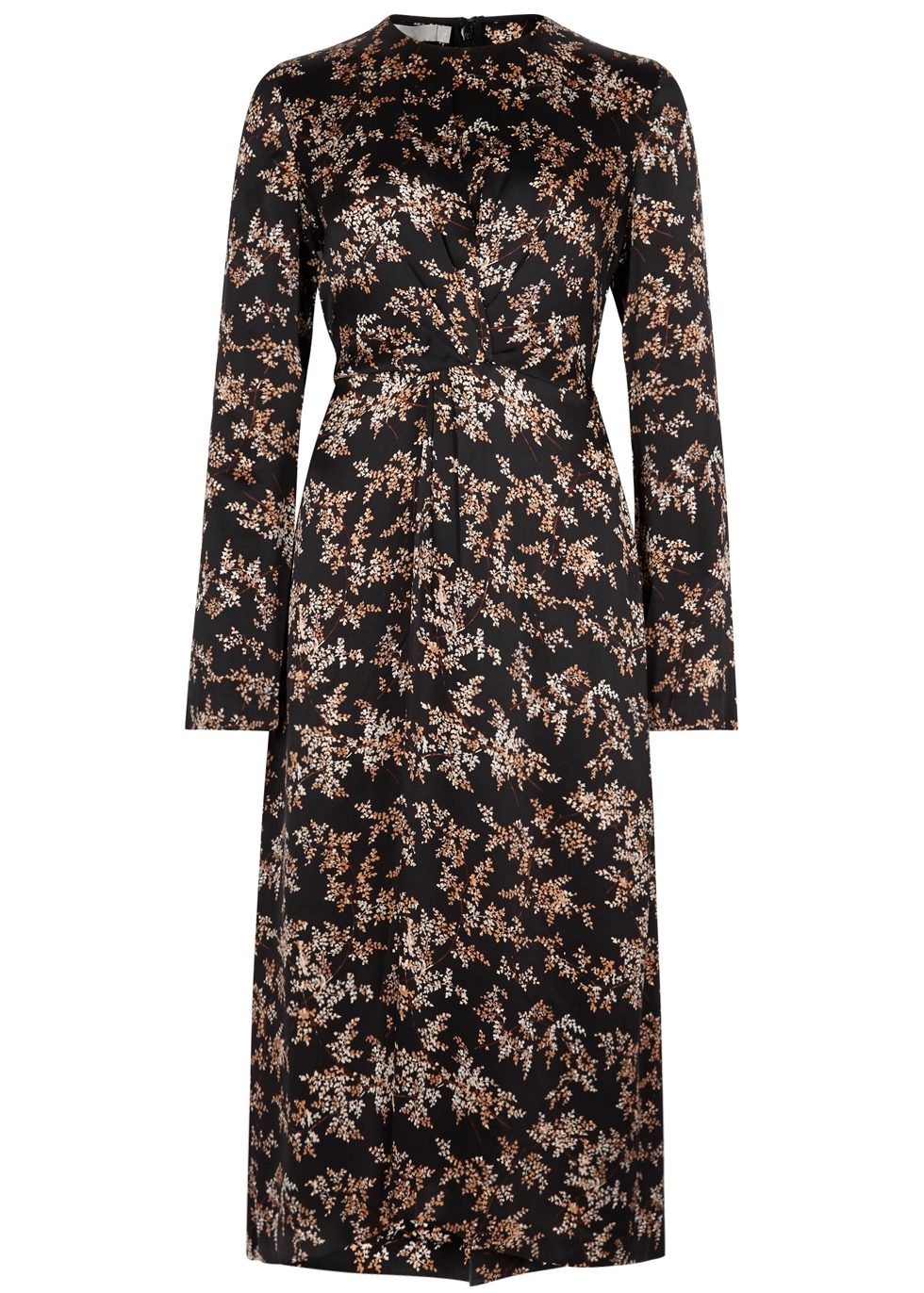 VINCE EDEN BRANCH PRINTED SILK DRESS