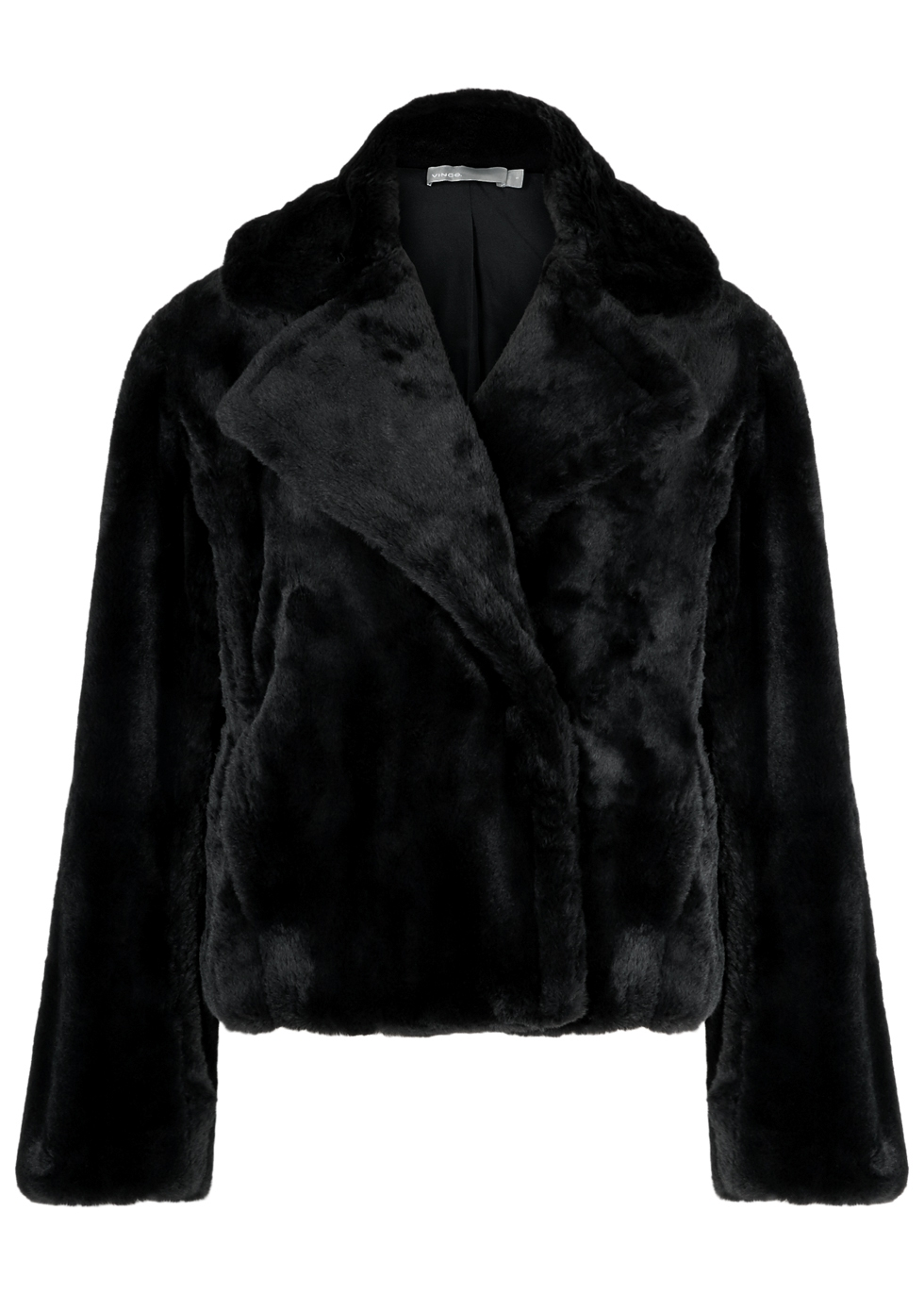 VINCE BLACK FAUX FUR JACKET