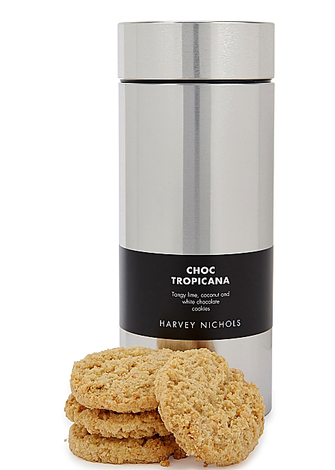 9da1b139c26c4 Harvey Nichols Choc Tropicana Cookies Silver Tin 200g