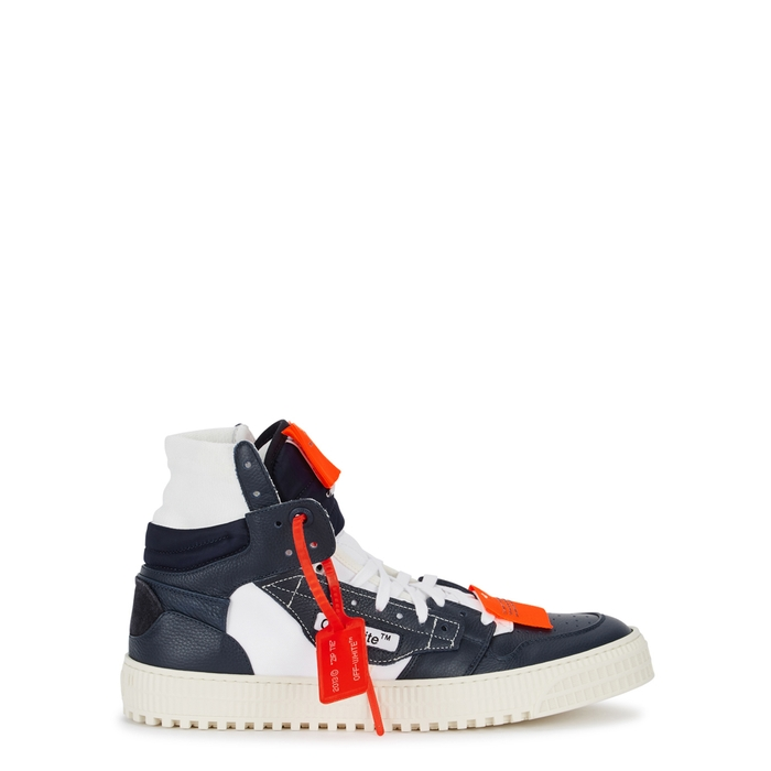 "Off-White ""Off-Court"" 3.0 Navy Hi-top Trainers"