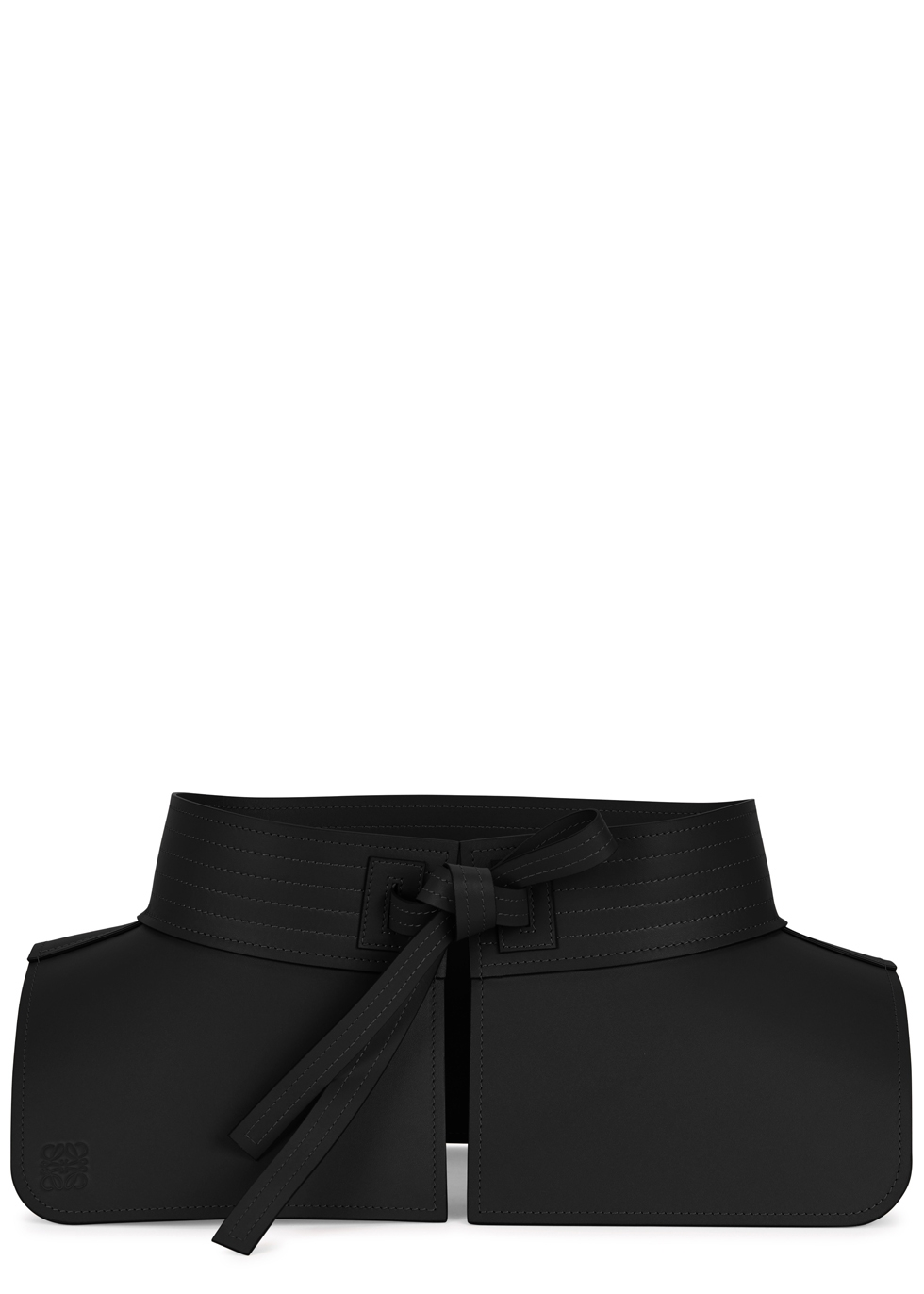 LOEWE OBI BLACK LEATHER WAIST BELT