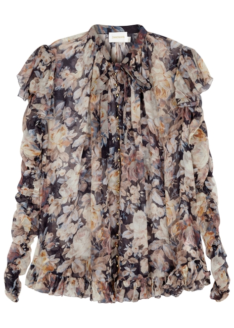 d97bbdc1338a21 Tempest Frolic silk chiffon blouse ...